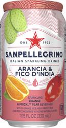 Italian Sparkling Drinks Aranciata Fico D'India Blik